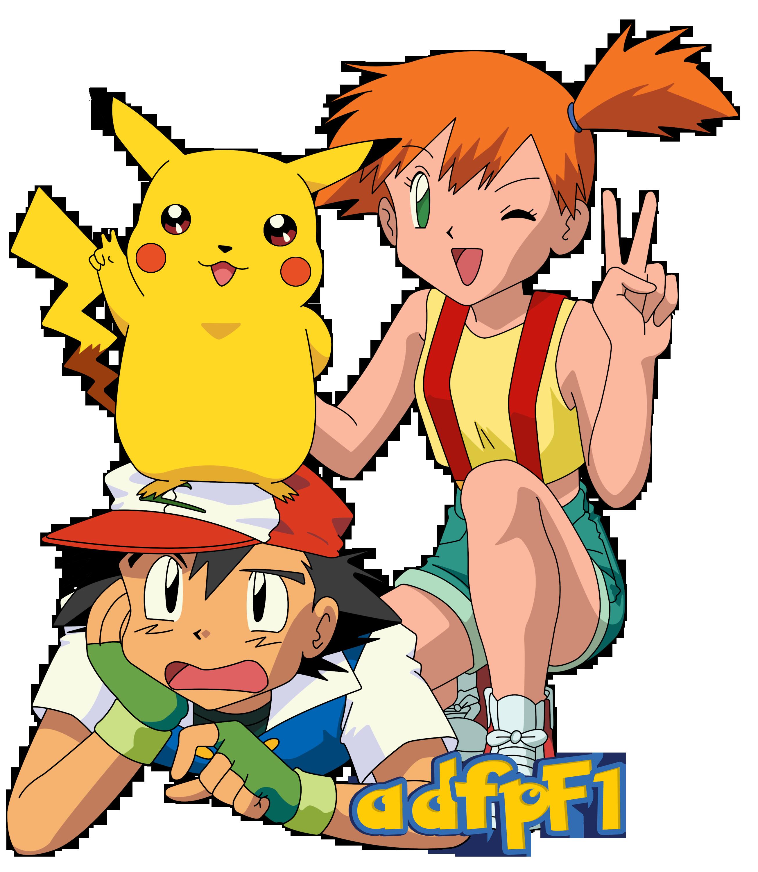 Ash Misty Y Pikachu By Adfpf1 Deviantart Com On Deviantart