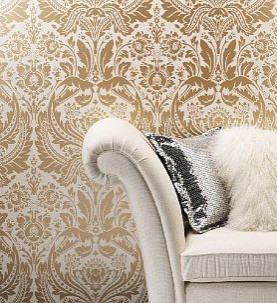 Bold Damask Wallpaper - Marks & Spencer - Wallpaper