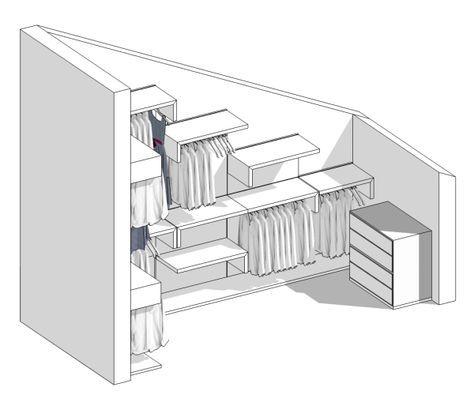 Realizzare Cabina Armadio Mansarda.Il Progetto Di Pamela Una Cabina Armadio In Mansarda Blog
