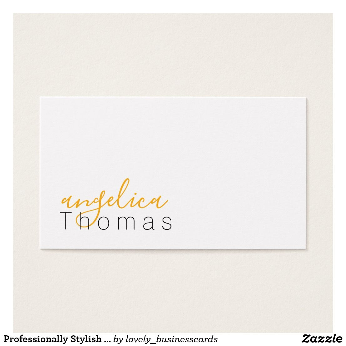 Professionally Stylish Orange Business Card Business Cards And