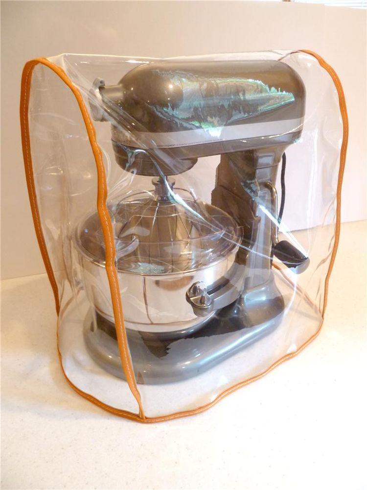 Clear mixer cover fits kitchenaid bowl lift orange trim
