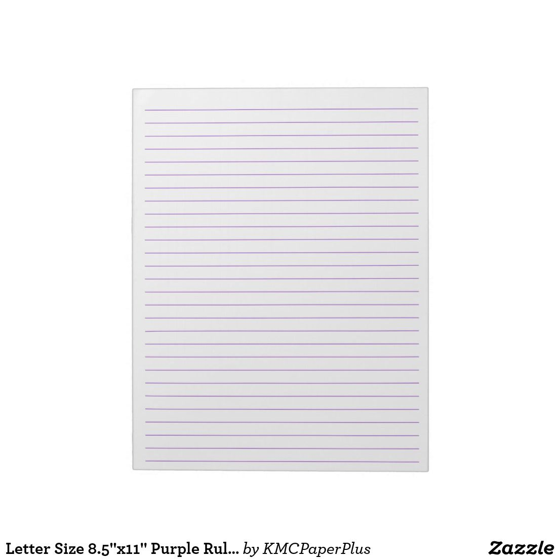 Letter Size 8 5 X11 Purple Ruled Wide Lined Paper Notepad