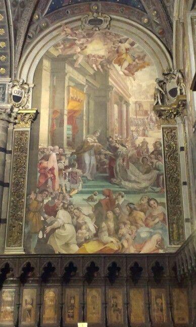 Story of Esther and Azuerro church Siena Italy