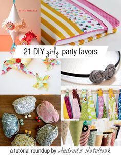 21 diy girly party favors these are great parties pinterest