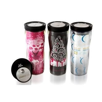 12 oz double wall tumbler with custom paper insert