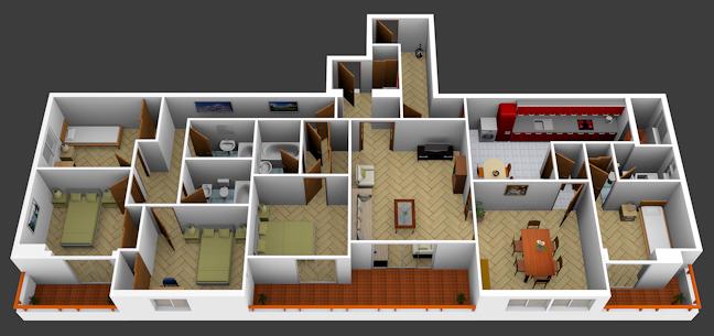 Ejemplo De Plano 3d De 5 Dormitorios Holiday Decor Decor Home Decor