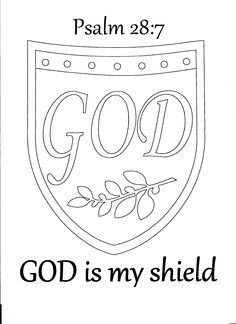 god is my shield coloring page - Google Search | Bible ...