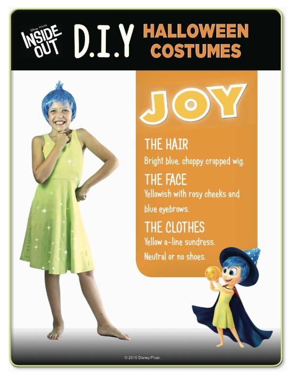 Disney Inside Out Joy Costume Jpg 600 776 Inside Out Halloween Costumes Halloween Party Costumes Joy Costume