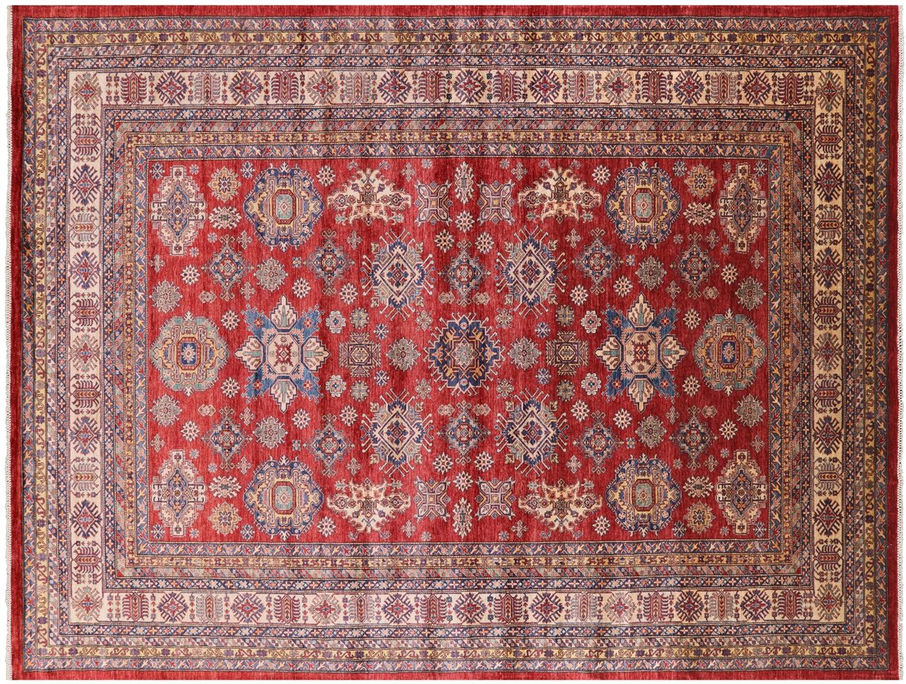 Super Kazak Handmade Wool Area Rug 12 X 16 Q2286 In 2020 Wool Area Rugs Rugs Area Rugs
