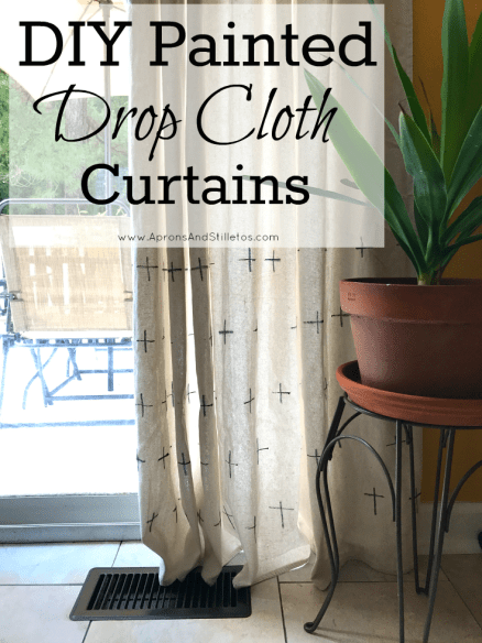 Diy Painted Drop Cloth Curtains In 2020 Drop Cloth Curtains Drop Cloth Paint Drop
