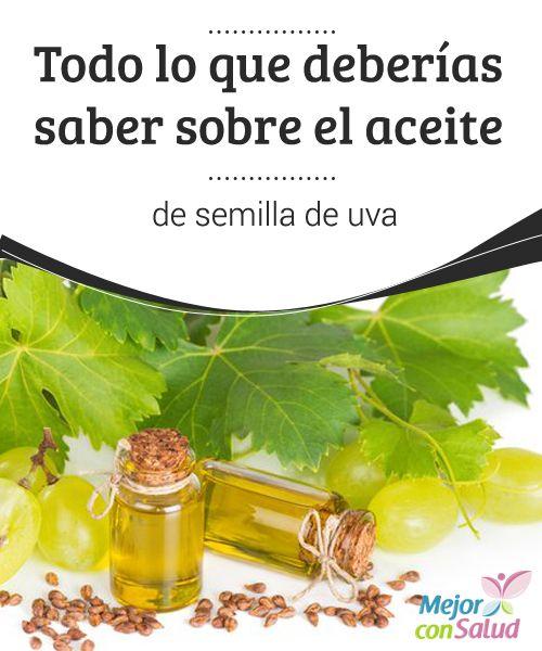 Todo lo que deberías saber sobre el aceite de #semilla de #uva  Si bien podemos consumir la semilla de uva directamente, al aplicarnos su aceite de forma tópica logramos beneficios a nivel #cutáneo, ya que nos ayuda a cuidar de la #piel en múltiples aspectos #RemediosNaturales