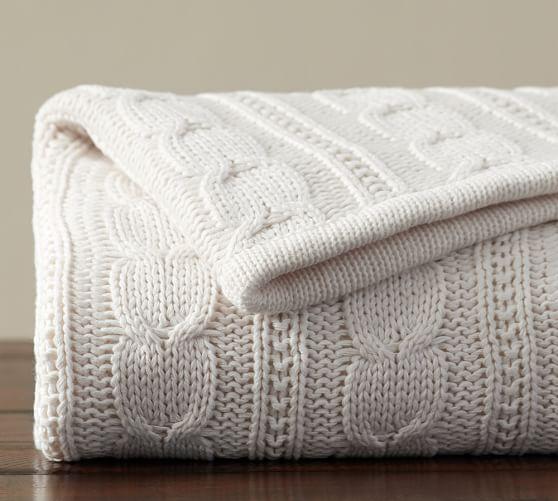 Chunky Knitted Throw Rug Blanket Charcoal Grey Warm Cosy 60/% Wool 40/% Acrylic