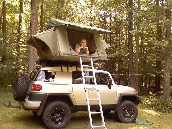 FJ roof top tent c&ing & FJ roof top tent camping | I u003c3 Camping! | Pinterest | Roof top ...