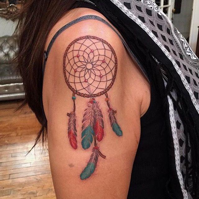 Dream Catcher A Memoir Dream catcher tattoo by Tyler Borich at Memoir Tattoo Tyler 34
