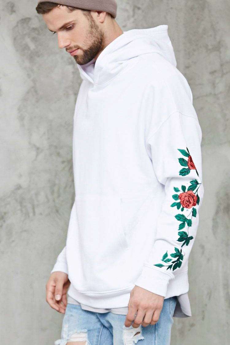 Floral embroidery hoodie i t b o y s pinterest
