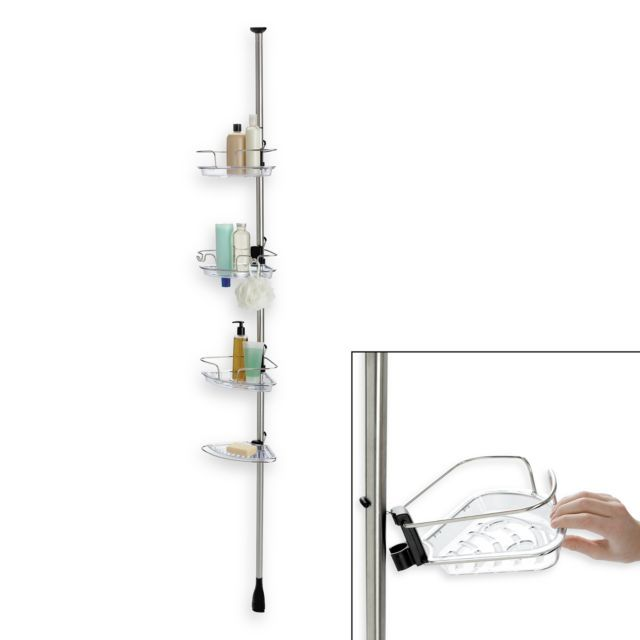 Xox Lift And Lock Shower Caddy Shower Pole Good Grips Shower Tower