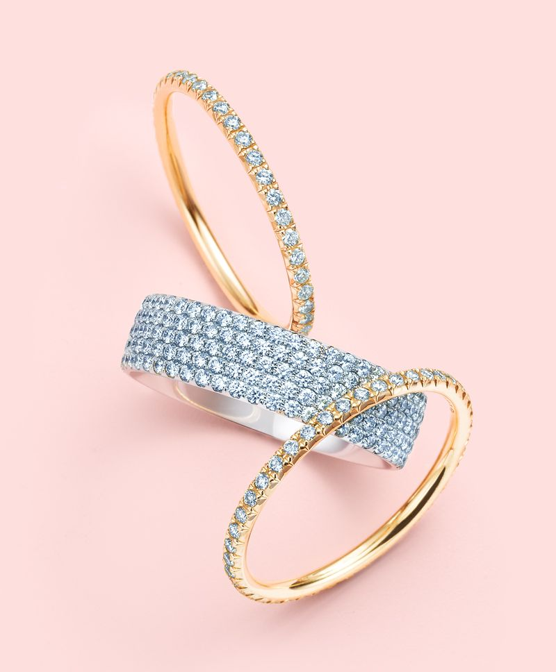 Tiffany diamonds should be applied liberally Rings from the Tiffany
