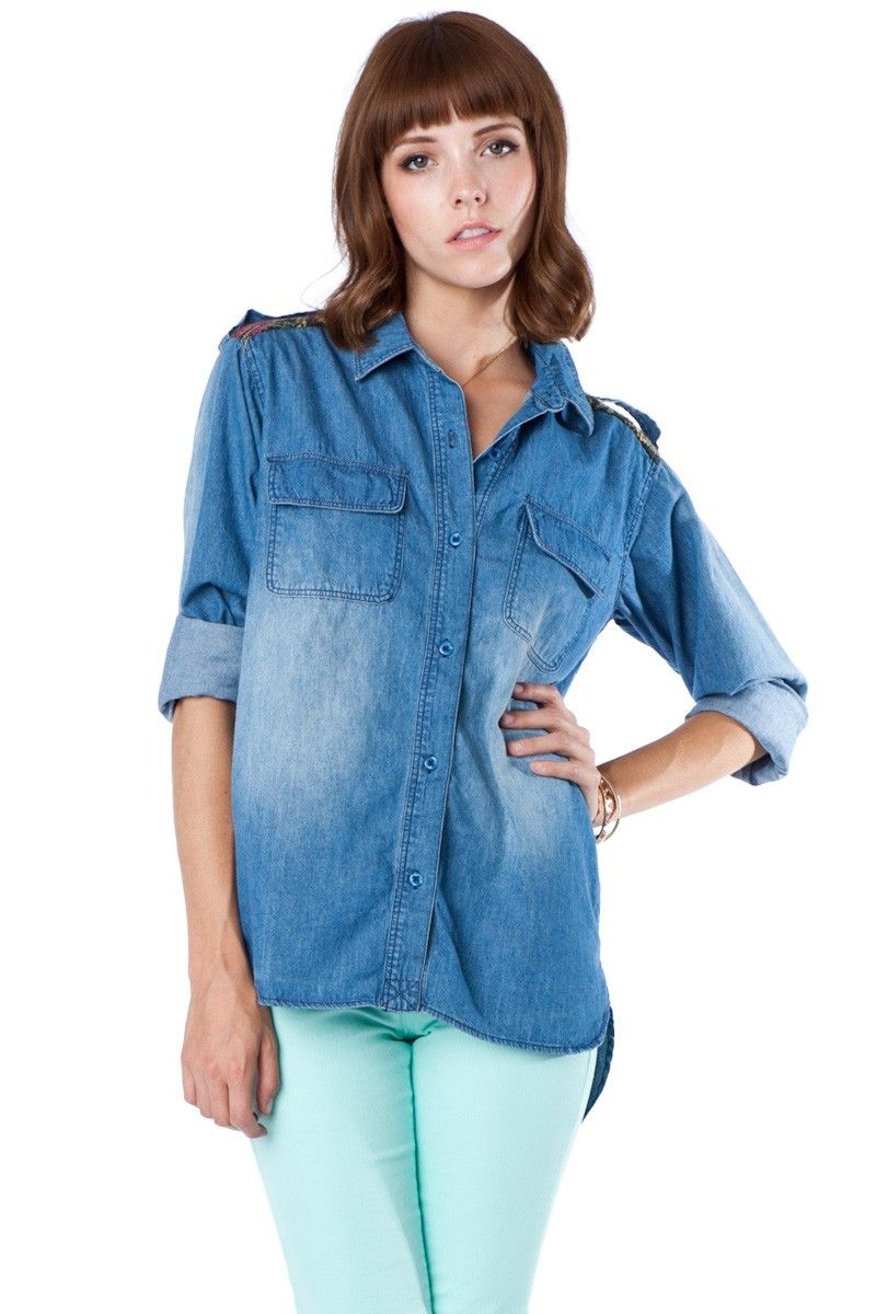 Love this Chambray top