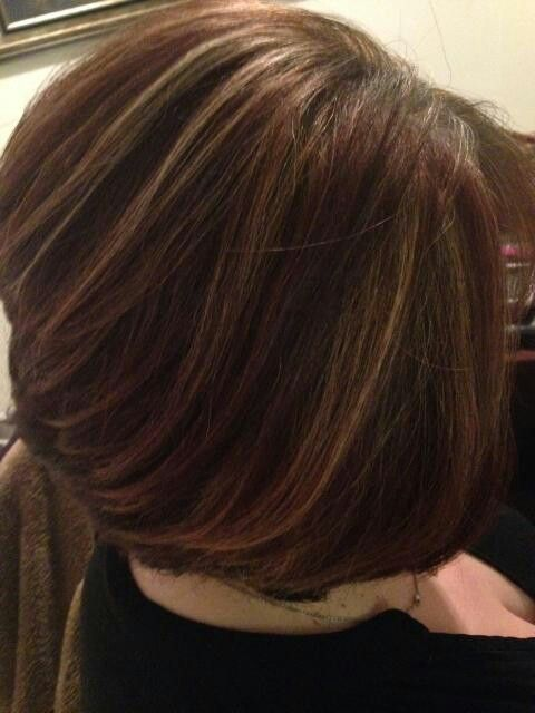 Chocolate Brown With Caramel Highlights With Bob Haircut Glamour