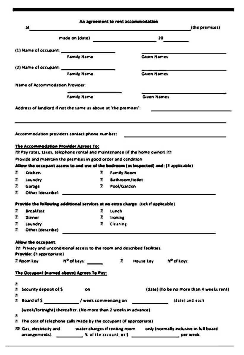Room Rental Agreement Template Rental Agreement Templates Room Rental Agreement Templates