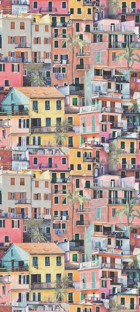 Sample Portovenere Wallpaper in Multi-Color from the Manarola Collection by Osborne & Little