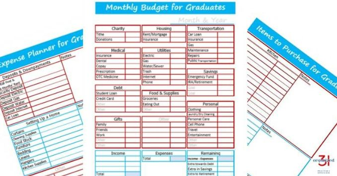 free budget worksheet for college college planning college
