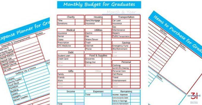 Free Budget Worksheet for College College Planning Pinterest