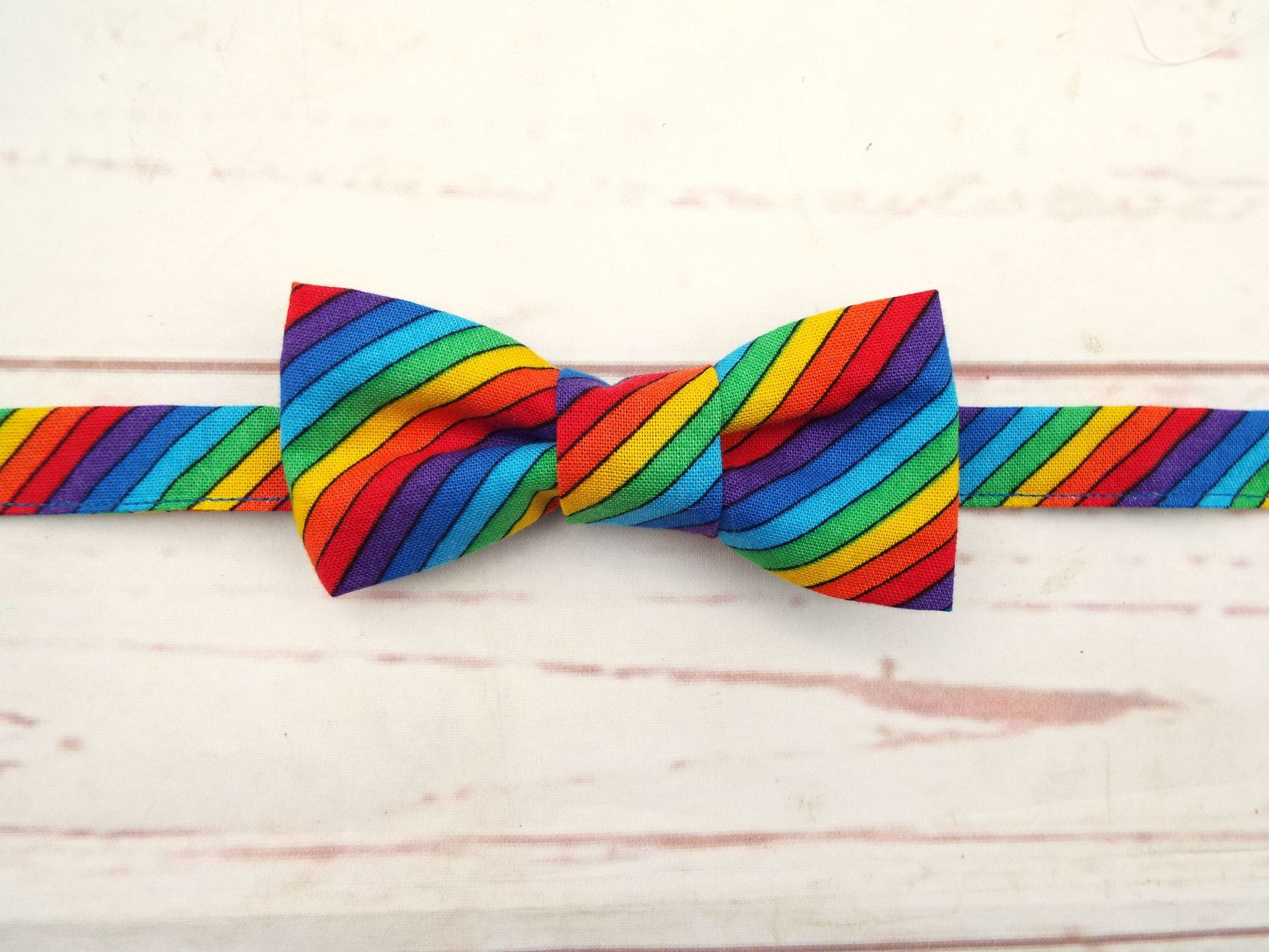 333600aee5f41 Rainbow Kids Bow Tie | Children's Fashion | Toddler bow ties ...