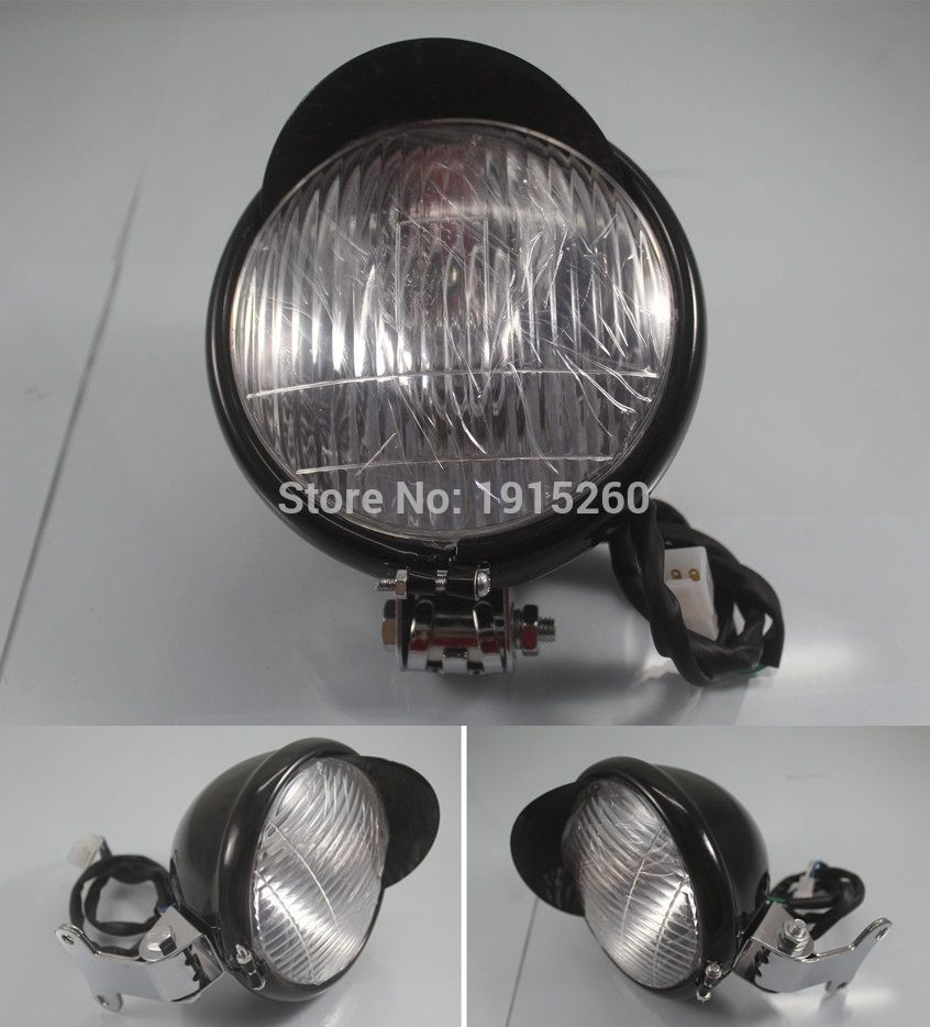 "RPMMOTOR 5 3/10"" Chrome Steel Headlight for Yamaha VStar"