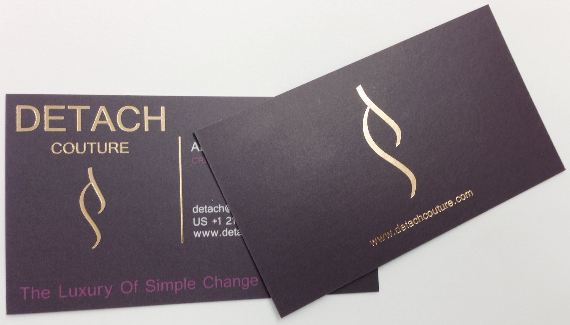 This is New York Printing Solutions, Inc. gold foil business cards ...