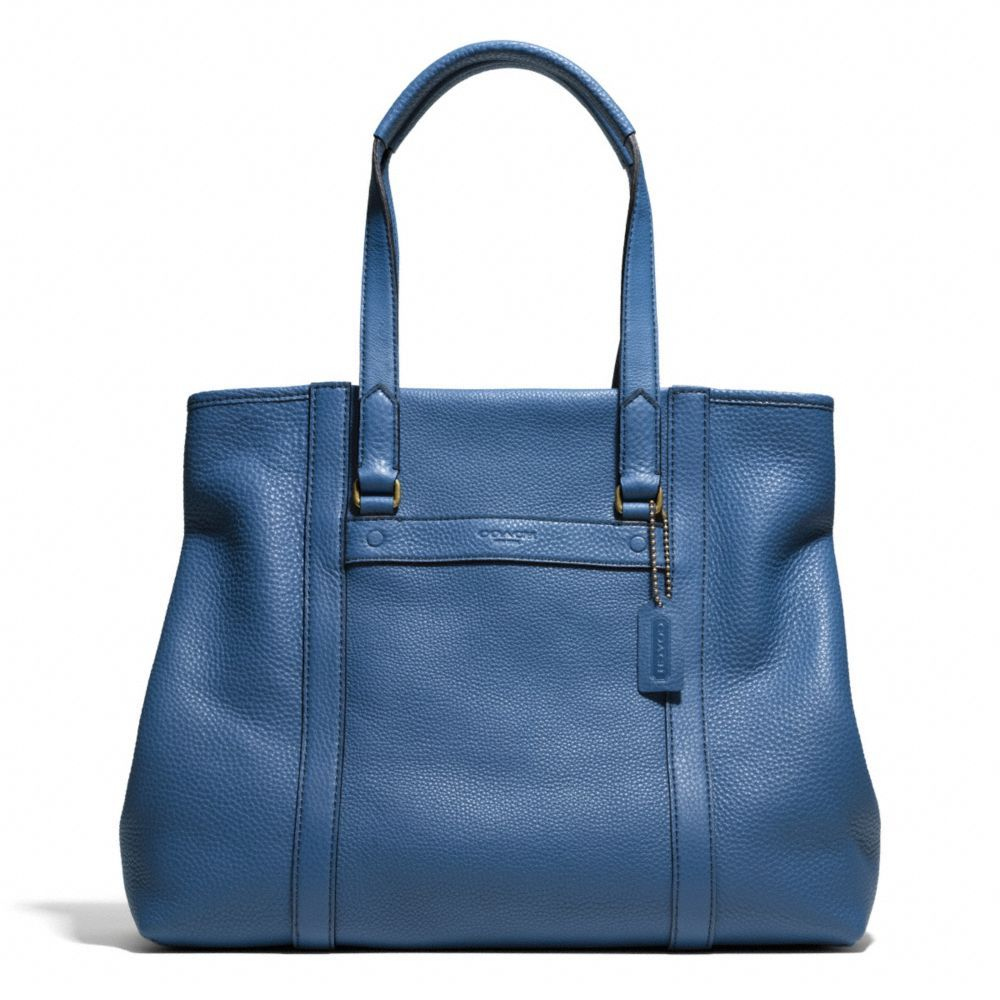 The Bleecker Shopper In Pebbled Leather from Coach