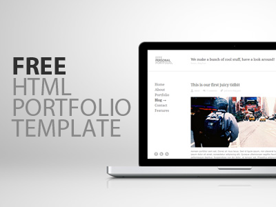 A free html template design tutorials freebies for Free html portfolio templates