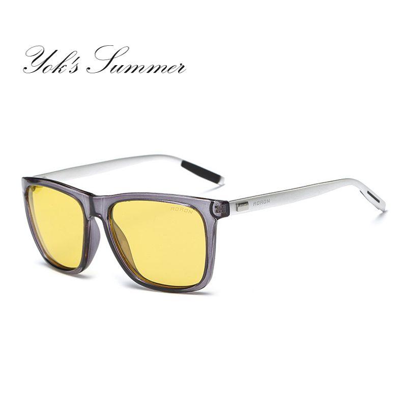 Men Retro Summer Anti-UV Polarized Sunglasses Classic Night Vison Driving Goggle Xd1gwZHzl