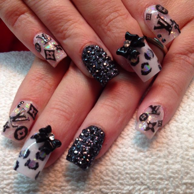 Oooo la la Louis Vuitton! Nails By Celeste Young | Nails by Celeste ...