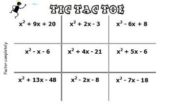 picture about Factoring Polynomials Games Printable called Pin upon Substantial college clroom