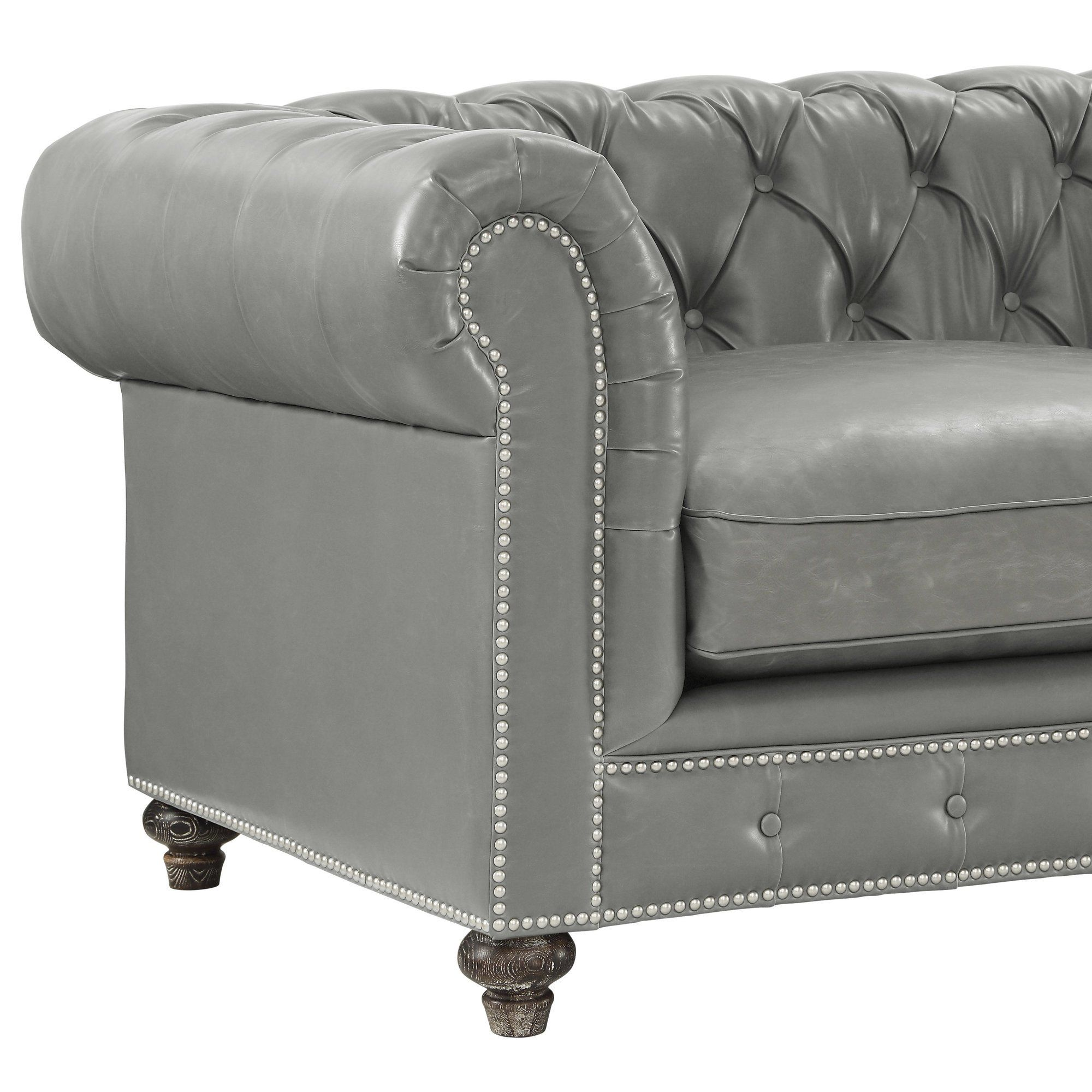 Rustikale Couch Bustam Leather Chesterfield Sofa S O F A S Pinterest