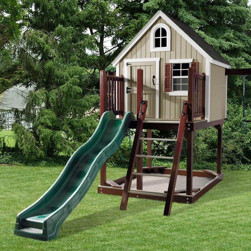 Amazing Amish Made #Treehouse Loft #Swing #Set (Swing Set U0026 Jungle Gyms)