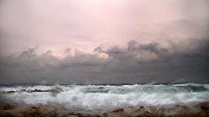 Abstract Landscape Photograph - Window Sea Storm  by Stelios Kleanthous