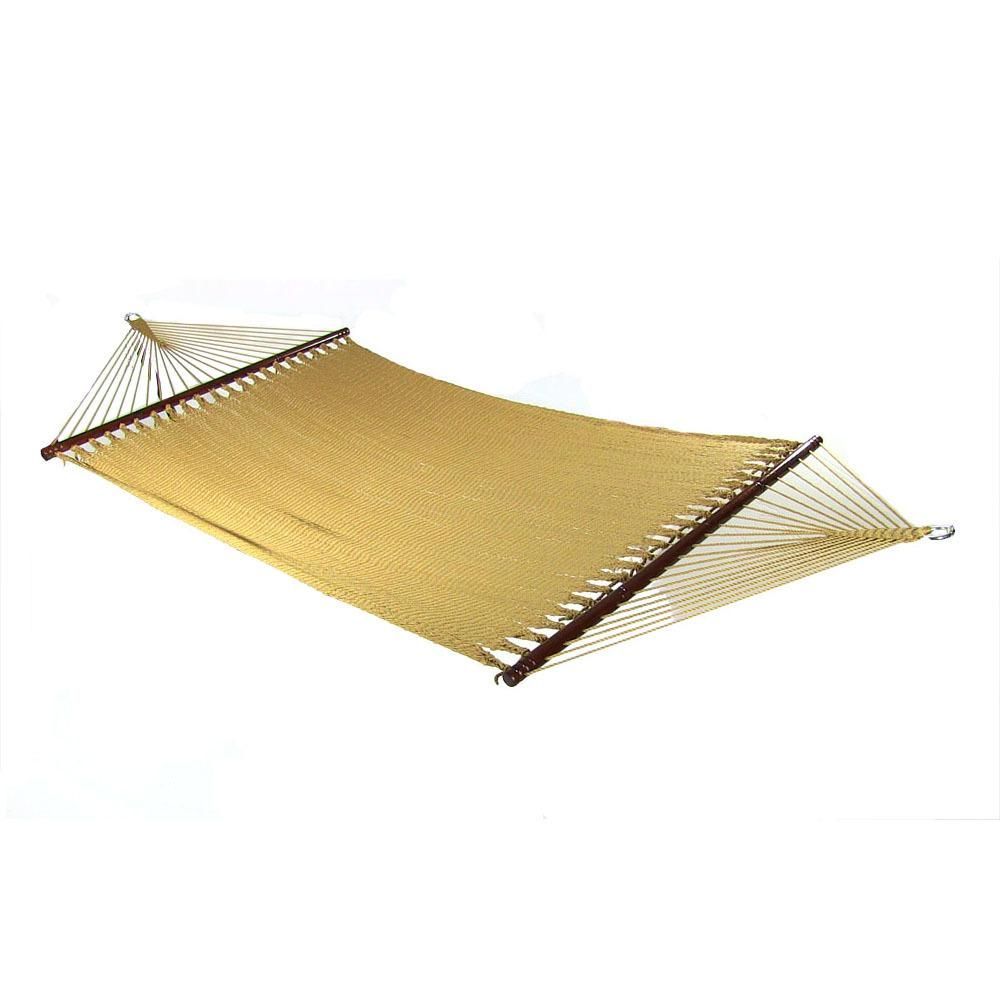 Sunnydaze Decor 11 Ft 2 Person Large Rope Hammock Bed With Spreader Bar In Tan Rope Hammock Hammock Hammock Swing