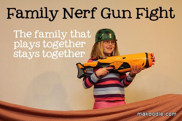 Nerf Family Fun Gun Fight