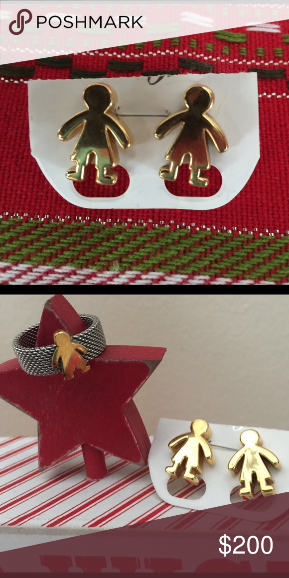 Authentic Gold Tous earrings 18Kt Yellow Gold Boy earrings . Excellent used condition ‼️ Tous Jewelry Earrings