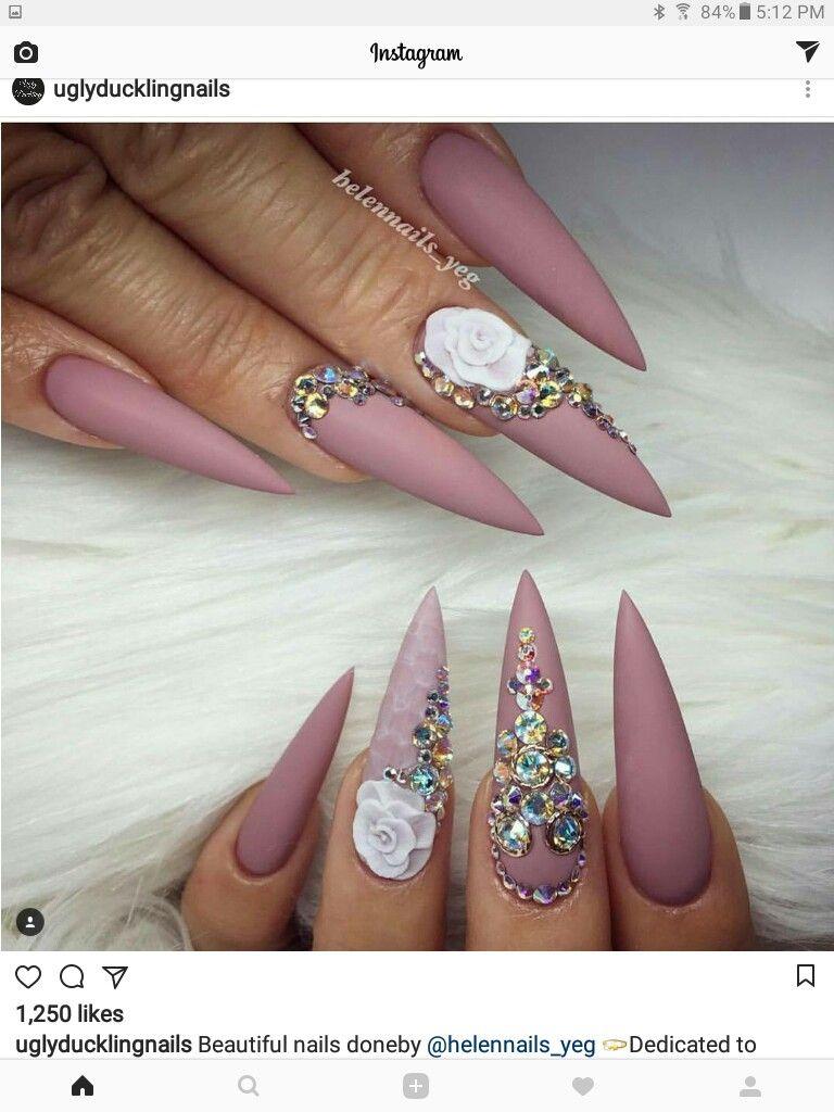 Pin by ♥☆MAL☆♡ on Stiletto Nail Art | Pinterest | Stiletto nail ...