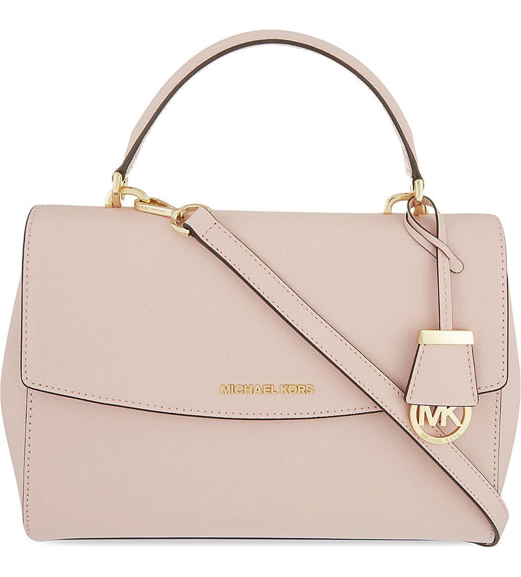 7c24d3d864dd MICHAEL MICHAEL KORS - Ava medium Saffiano leather satchel
