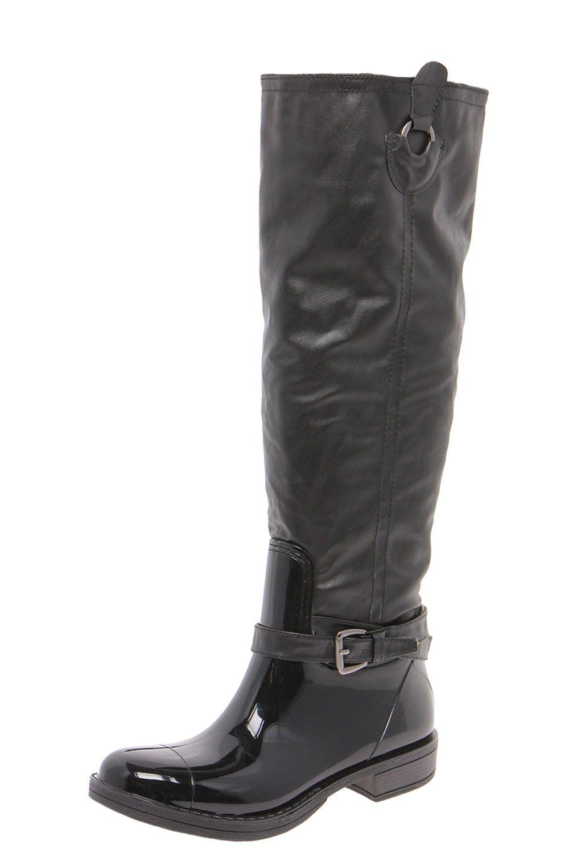 Lucille Buckle Trim Faux Fur Riding Boot  £40