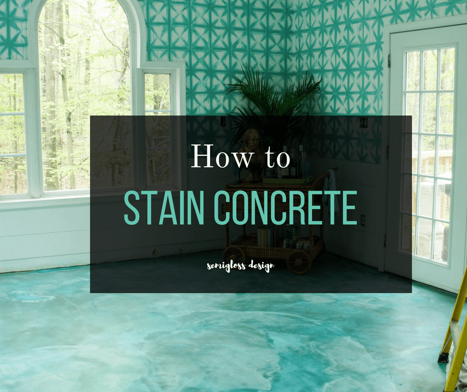 The Beginner's Guide To DIY Stained Concrete, A Step By