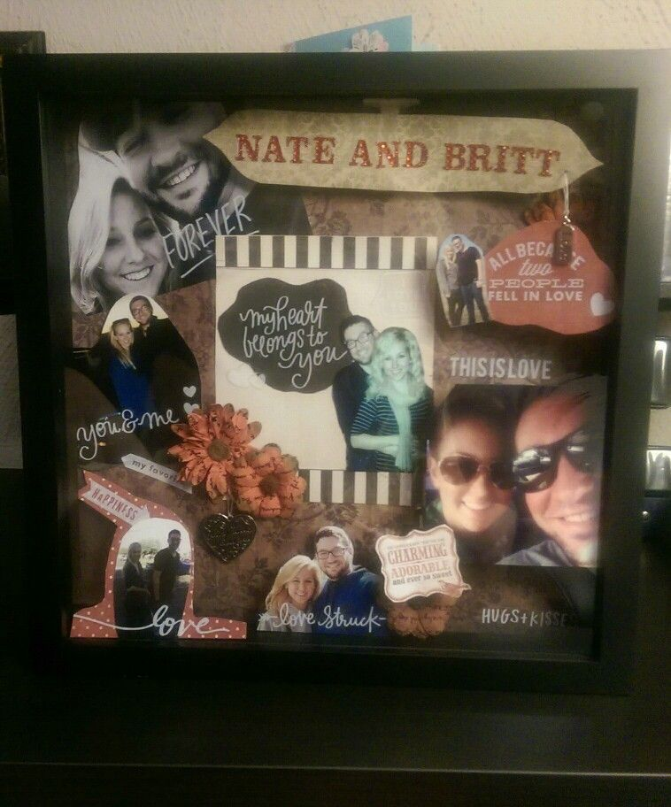 Shadow box idea for boyfriend! This is one I made for our one year ...