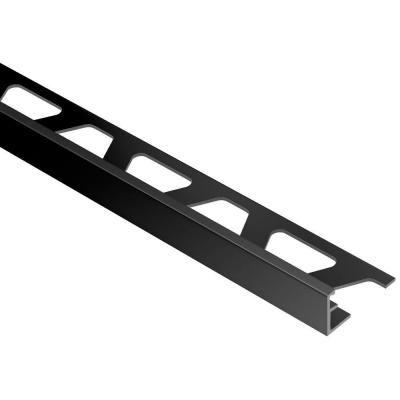 Schluter Jolly Bright Black Anodized Aluminum 5 16 In X 8 Ft 2 1 2 In Metal Tile Edging Trim Tile Edge Trim Tile Edge Metal Tile