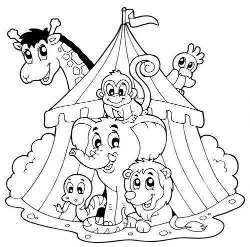 Tiere Zirkustiere Zum Ausmalen Zum Ausmalen Zirkus
