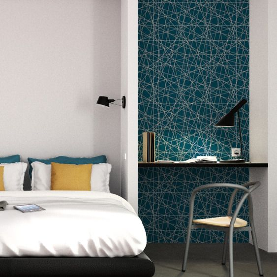 intiss mikado by e rivassoux coloris bleu p trole emmanuelle rivassoux pinterest bleu. Black Bedroom Furniture Sets. Home Design Ideas