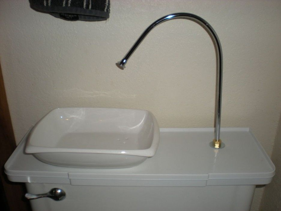Interesting Toilet With Sink On Tank